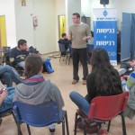 Experiential lecture and sign language experience for youth councils at Shoham